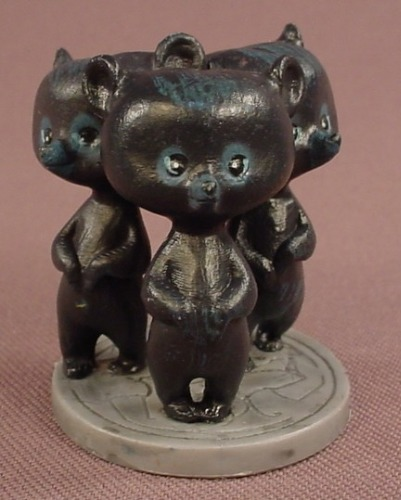 Disney Brave 3 Brothers As Bear Cubs PVC Figure On A Round Base, 1 5/8 Inches Tall