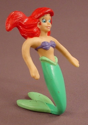 Disney The Little Mermaid Bendy Or Bendable Ariel Figure, 5 5/8 Inches Tall, The Arms & Tail Bend