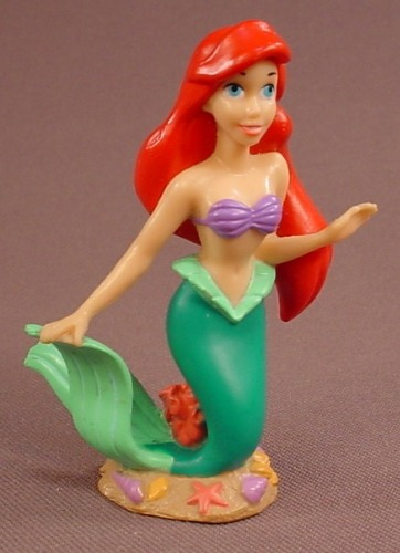 Disney The Little Mermaid Ariel On A Multi Colored Coral Base PVC Figure, 2 3/4 Inches Tall