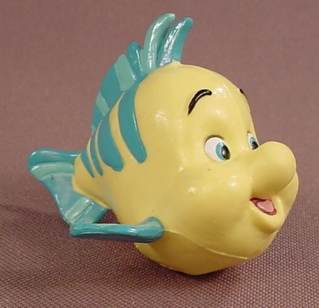 Disney The Little Mermaid Flounder Fish PVC Figure, 2 1/4 Inches Long, Figurine