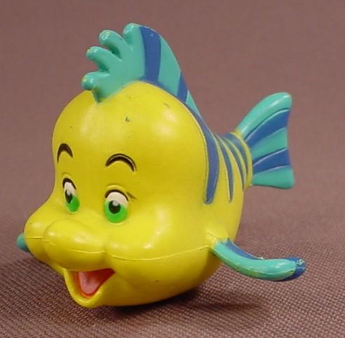 Disney The Little Mermaid Flounder Fish PVC Figure, 2 Inches Long, Figurine