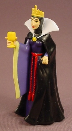 Disney Snow White Maleficent Villain Holding A Cup PVC Figure, 4 Inches Tall, Figurine