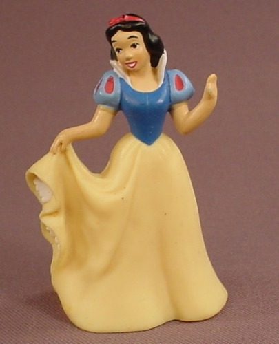 Disney Snow White Holding Her Dress With One Hand PVC Figure, 3 Inches Tall, Figurine
