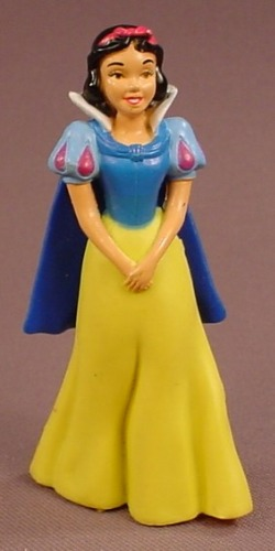 Disney Snow White Figure With A Cape, Legs Inside The Dress, 3 3/8 Inches Tall, Target, Figurine