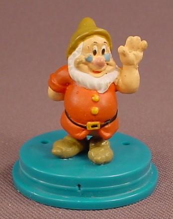 Disney Snow White Doc Dwarf PVC Figure On A Round Base, 1 3/4 Inches Tall, Dwarves, Figurine