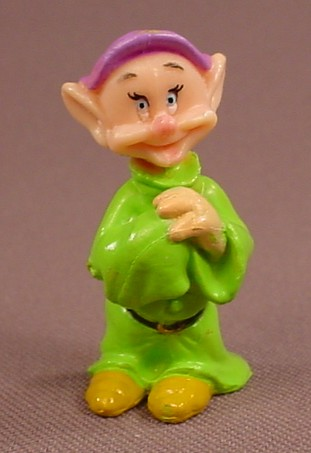 Disney Snow White Dopey Dwarf With Hands Clasped PVC Figure, 1 5/8 Inches Tall, Dwarves, Figurine