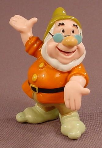 Disney Snow White Doc With Arms Spread PVC Figure, 2 3/8 Inches Tall, Figurine, Dwarf, Dwarves