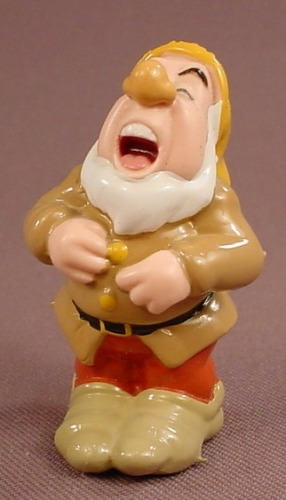 Disney Snow White Sneezy Holding Back A Sneeze PVC Figure, 2 1/4 Inches Tall, Figurine, Dwarf