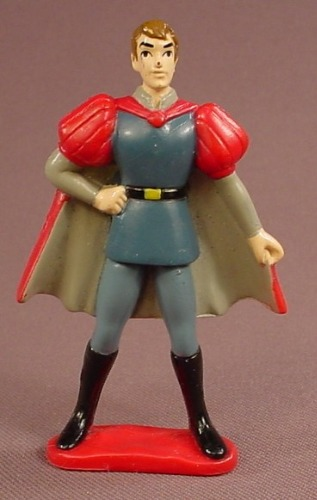 Disney Snow White Prince Charming PVC Figure On A Red Base, 3 Inches Tall, Figurine, 1992 Mattel