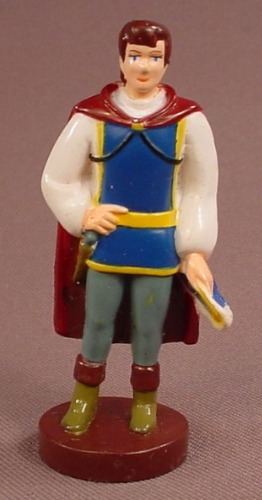 Disney Snow White Prince Charming With His Hat In His Hand PVC Figure On A Round Brown Base