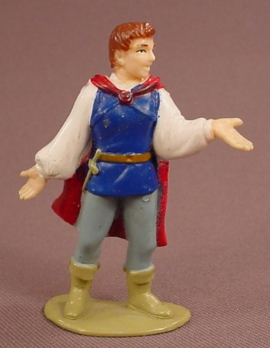 Disney Snow White Prince Charming With One Hand Extended PVC Figure On A Base, 2 5/8 Inches Tall