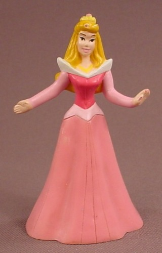 Disney Sleeping Beauty Princess Aurora In A Pink Gown & Arms Extended PVC Figure, 3 1/4 Inches Tall