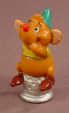 Disney Cinderella Gus The Mouse Sitting On A Thimble PVC Figure, 1 1/2 Inches Tall, Figurine