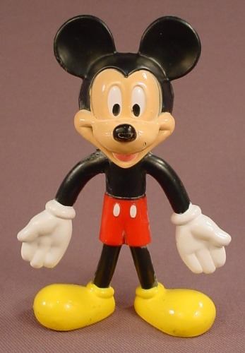 Disney Mickey Mouse Bendy Figure, 4 Inches Tall, Kellogg Cereal Promotion