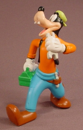 Disney Goofy With Lunch Box & Wrench PVC Figure, 3 1/2 Inches Tall, Figurine
