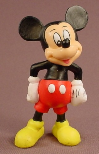Disney Mickey Mouse In His Traditional Clothes PVC Figure, 3 1/2 Inches Tall, Figurine