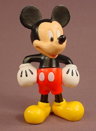 Disney Mickey Mouse With His Hands By His Hips & Wearing His Traditional Clothes PVC Figure