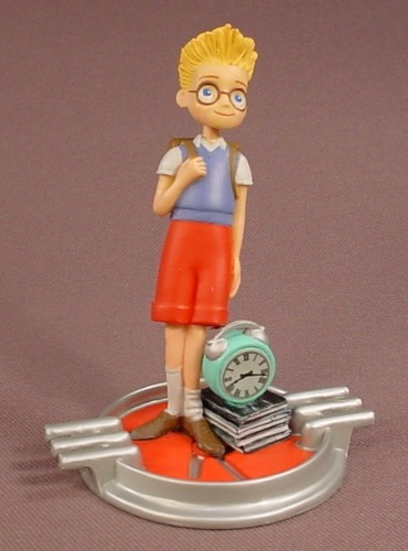 Disney Pixar Meet The Robinsons Lewis PVC Figure On A Base, 3 1/2 Inches Tall, Figurine