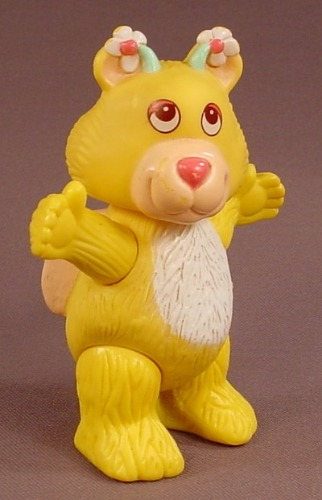 Disney Wuzzles Butterbear Poseable Figure, 4 Inches Tall, 1985 Hasbro