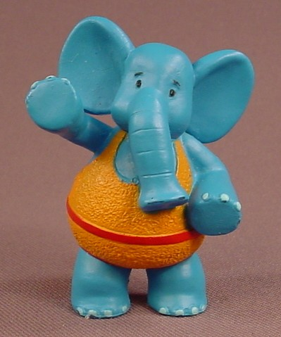 Disney Jo Jo's Circus Dinky The Blue Elephant PVC Figure, 2 5/8 Inches Tall, Figurine
