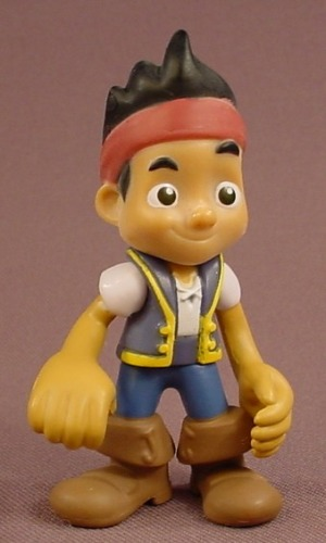 Disney Jake And The Neverland Pirates Jake PVC Figure, 3 Inches Tall, The Arms & Legs Move, Figurine