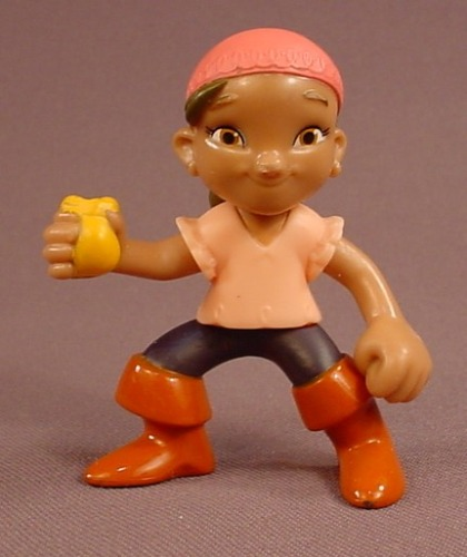 Disney Jake And The Neverland Pirates Izzy PVC Figure, 2 5/8 Inches Tall, The Arms & Legs Move