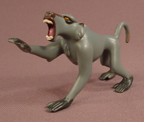 Disney Tarzan Baboon PVC Animal Figure, 3 1/4 Inches Long, From The Baboon Battle Set, 1999 Mattel