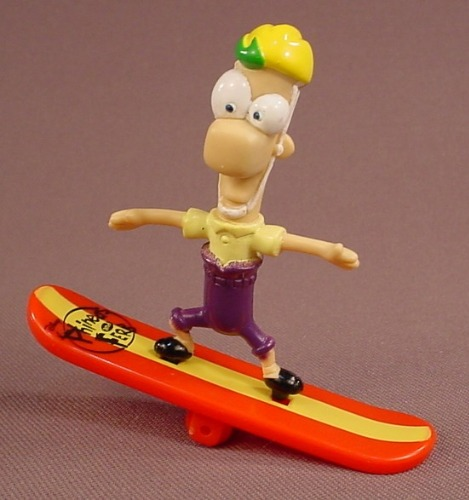 Disney Phineas & Ferb PVC Figure On A Surfboard, 2 3/4 Inches Tall
