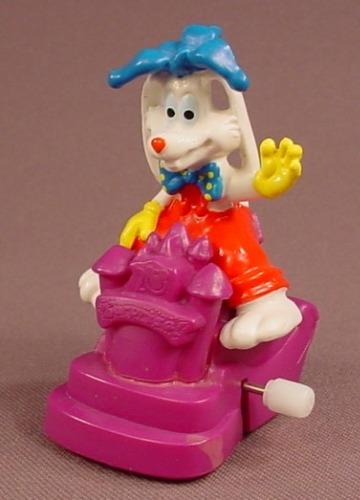 Disney Roger Rabbit On A Wind Up Parade Float Toy, Walt Disney World Surprise Celebration, 1991