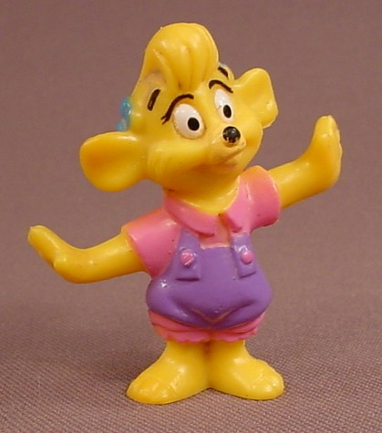 Disney Tale Spin Molly PVC Figure, 2 Inches Tall, Disney Afternoon Cartoons, 1991 Kellogg Cereal
