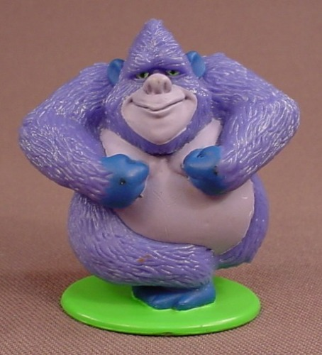 Disney Tarzan Terk The Gorilla PVC Figure On A Green Base, 2 1/8 Inches Tall, 2002 Hasbro, Figurine