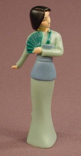 Disney Mulan Princess In A Green Dress PVC Figure, 2 1/2 Inches Tall, Figurine