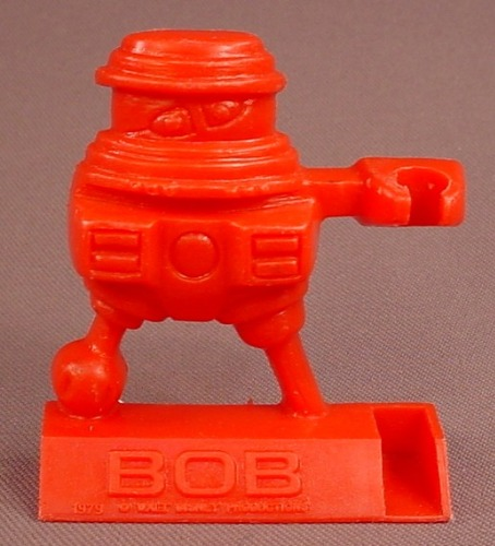 Disney The Black Hole Movie 1979 Red Bob Shreddies Cereal Premium, Spoon Sitter, Pencil Holder