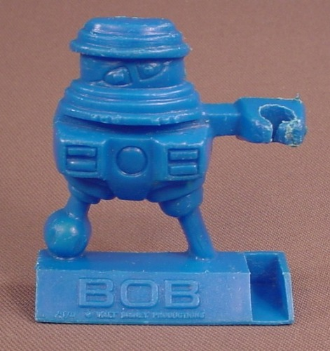 Disney The Black Hole Movie 1979 Blue Bob Shreddies Cereal Premium, Spoon Sitter, Pencil Holder