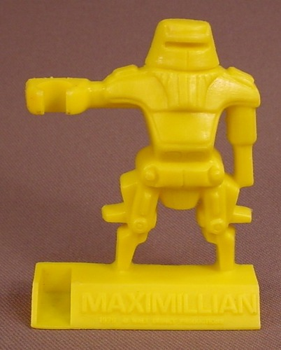 Disney The Black Hole Movie 1979 Yellow Maximillian Shreddies Cereal Premium, Spoon Sitter