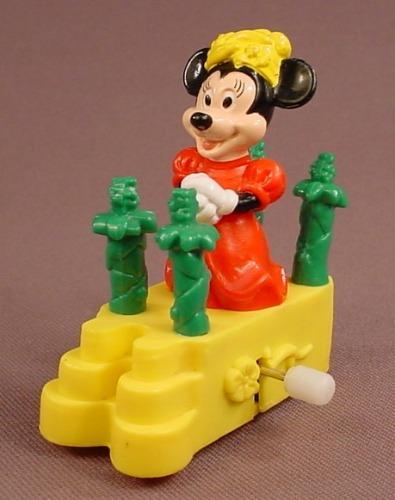 Disney Minnie Mouse Riding A Wind Up Parade Float, Walt Disney World Surprise Celebration