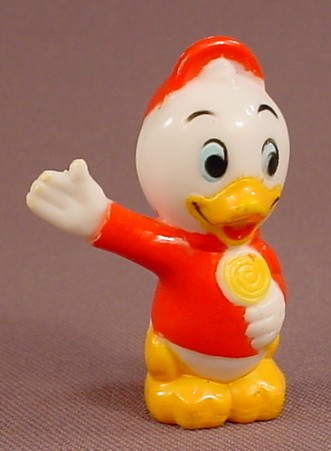 Disney Replacement Huey Duck Plastic Figure For A Disneyland Play Set, 1986 Playmates Toys