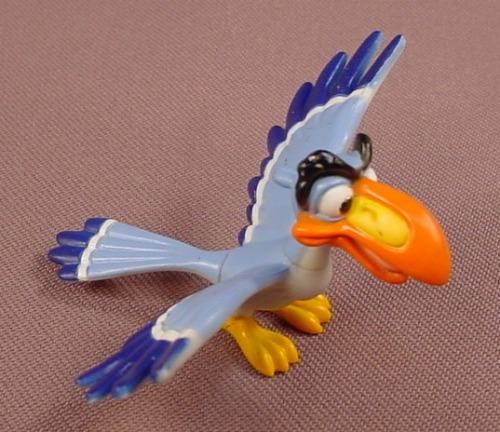 Disney The Lion King Zazu Bird With Wings Spread PVC Figure, 2 3/4 Inches Across, Hasbro, Figurine