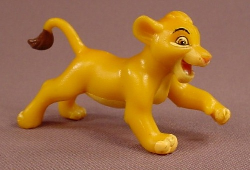 Disney The Lion King Simba Cub In A Running Pose PVC Figure, 2 3/4 Inches Long, Figurine