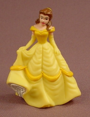 Disney Beauty & The Beast Belle Holding Her Gown PVC Figure, 2 1/8 Inches Tall, 2008, Figurine