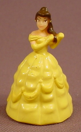 Disney Beauty & The Beast Belle Mini Figure, Hard Plastic, 1 5/8 Inches Tall