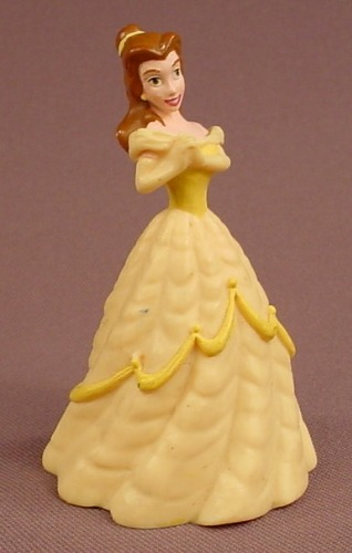 Disney Beauty & The Beast Belle With A Yellow Gown & Hands Clasped PVC Figure, 3 1/8 Inches Tall
