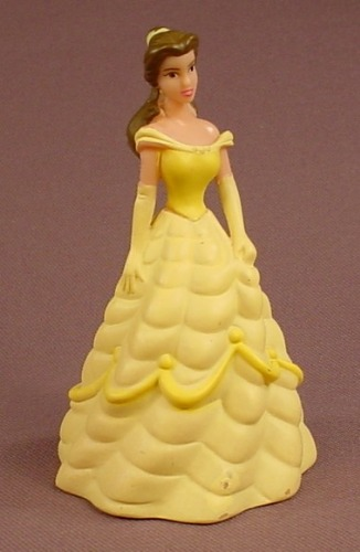 Disney Beauty & The Beast Belle In A Yellow Gown PVC Figure, 3 5/8 Inches Tall, Figurine