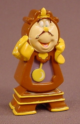 Disney Beauty & The Beast Cogsworth The Clock PVC Figure, 2 1/8 Inches Tall, Grandfather Clock