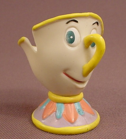 Disney Beauty & The Beast Chip The Teacup Soft Rubber Or Vinyl Figure, 2 Inches Tall, Pax Mfg Co Ltd