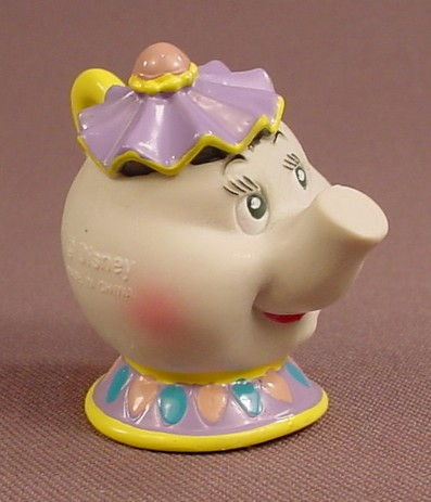 Disney Beauty & The Beast Mrs Potts The Teapot PVC Figure, 2 Inches Tall, Figurine