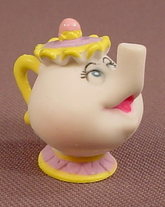 Disney Beauty & The Beast Mrs Potts The Teapot PVC Figure, 1 1/8 Inches Tall, Figurine