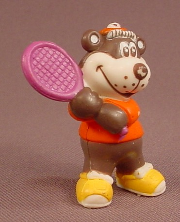 A&W Restaurant Bear With A Tennis Racquet PVC Figure, Advertising Promotional Figure