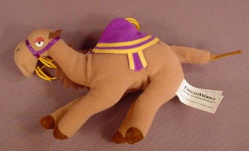 Disney Aladdin Plush Habibi Camel Beanie Toy, 1999 Dreamworks, Special Edition