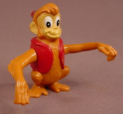 Disney Aladdin Wind Up Abu The Monkey Figure Toy, 2 1/4 Inches Tall, 1992 Burger King